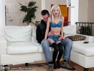 Blonde sex with strangers blindfold