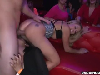 My wife at a swingers club